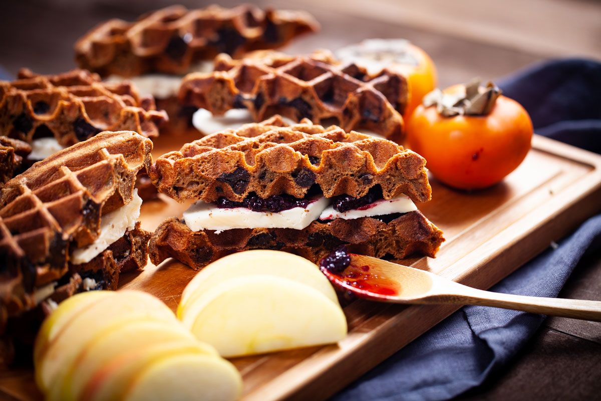 The Best Prune Waffles and Waffle Sandwiches
