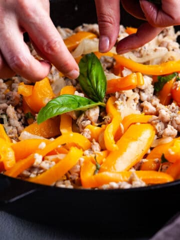 KETO ITALIAN CHICKEN SAUSAGE AND VEGETABLE SKILLET