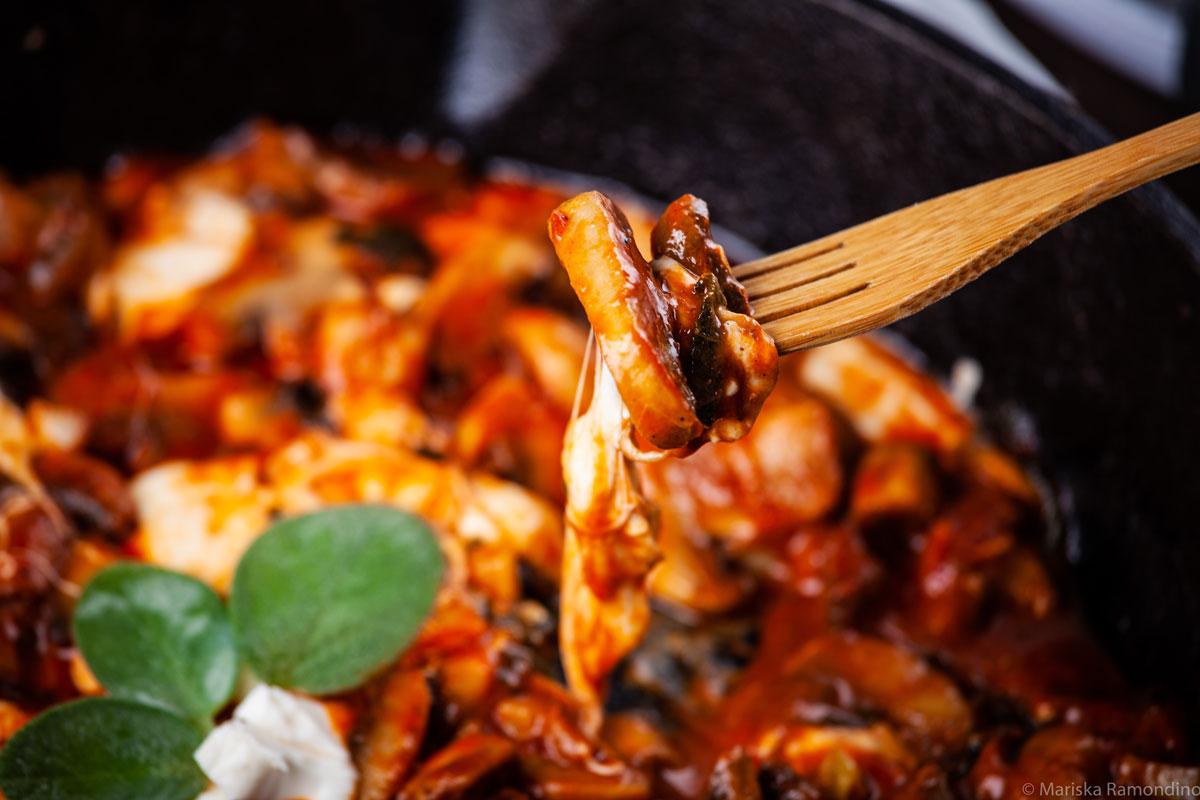 Creamy Mushroom Mozzarella Sauce