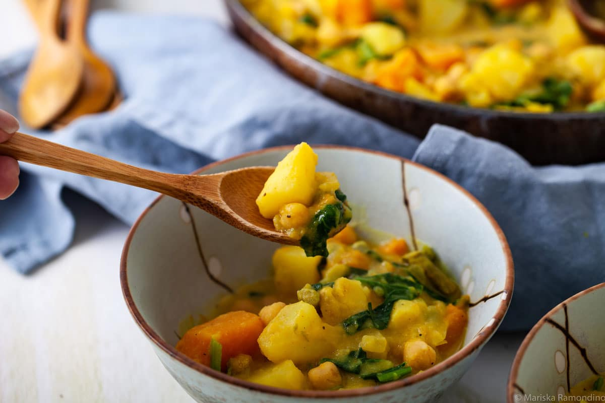ONE HEARTY VEGETABLE STEW RECIPE IN A BOWL