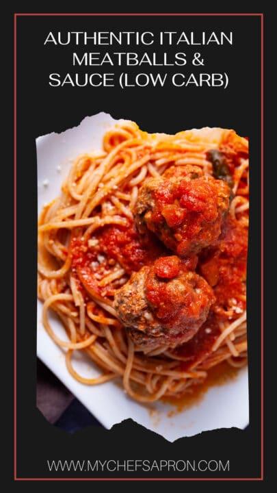 Authentic Italian Meatballs & Sauce (Low Carb).