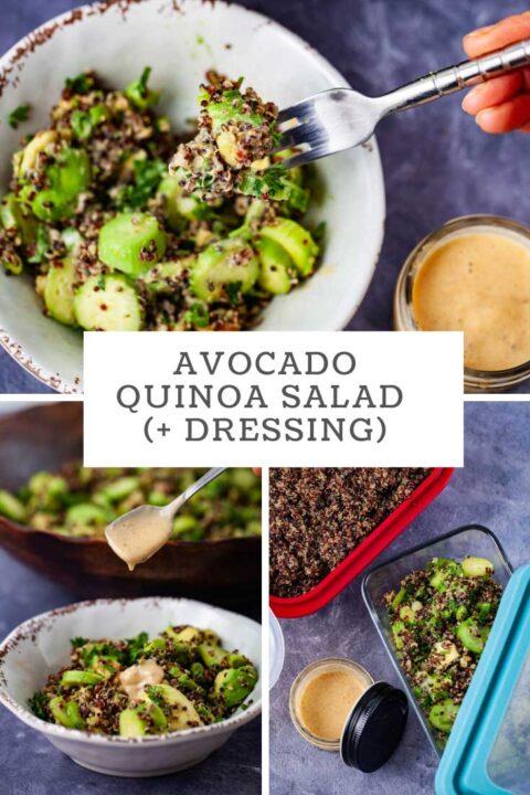 Avocado Quinoa Salad (+Dressing)