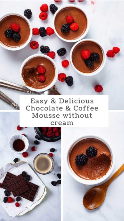 Easy & Delicious Chocolate & Coffee Mousse without Cream