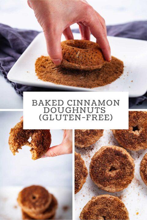 Baked cinnamon doughnuts (gluten-free).