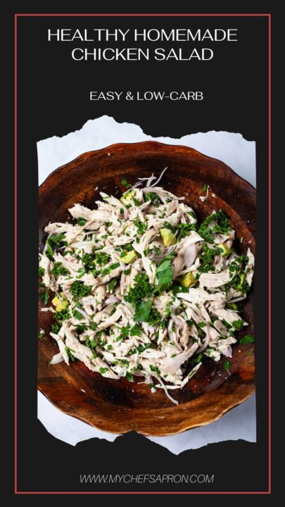Healthy Homemade Chicken Salad Easy & Low-Carb.