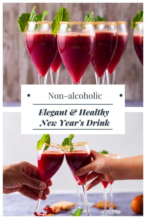 Non-alcoholic Elegant & Healthy New Year's Drink.
