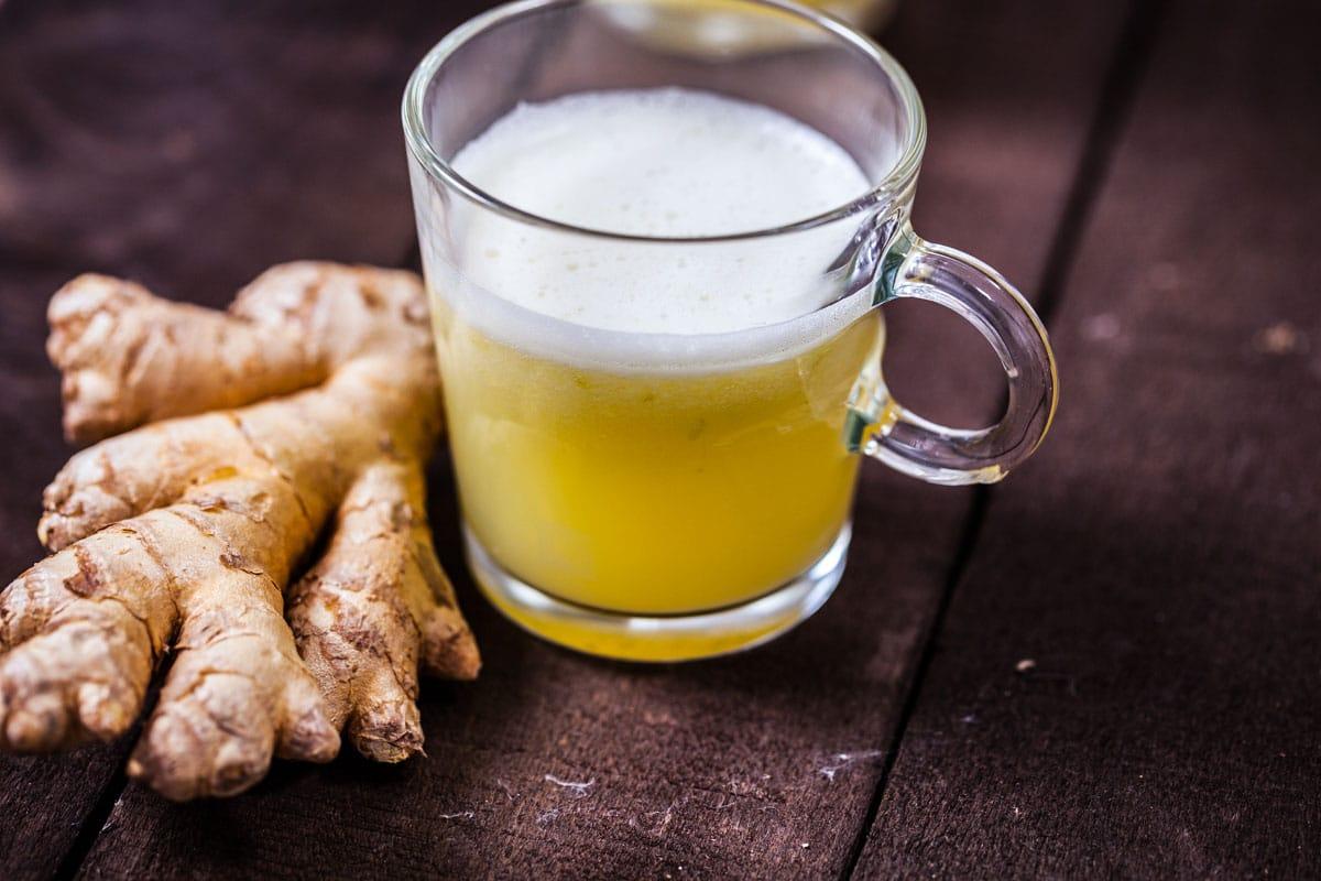 Ginger homemade wellness shot
