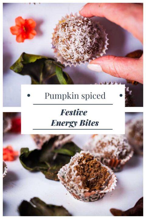 Festive energy bites.