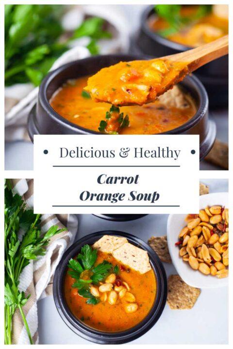 Delicious & Healthy Carrot Orange Soup.