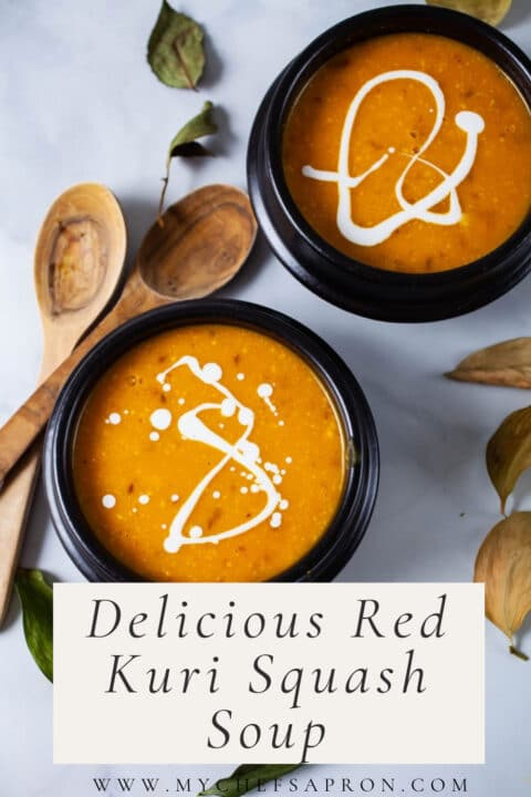 Delicious Red Kuri Squash Soup.