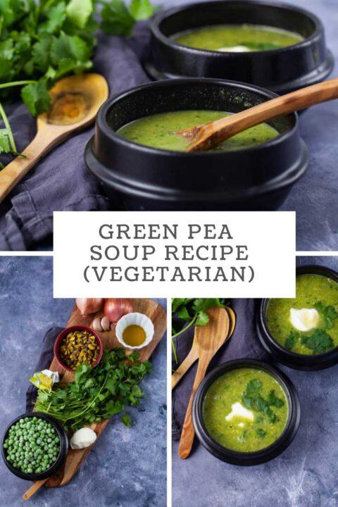 Green Pea Soup Recipe (vegetarian).